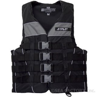 <img class='new_mark_img1' src='https://img.shop-pro.jp/img/new/icons5.gif' style='border:none;display:inline;margin:0px;padding:0px;width:auto;' />JETPILOT 2018 STRIKE 4‐BUCKLE NYLON VEST(ブラック/シルバー)