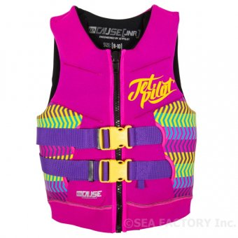 <img class='new_mark_img1' src='https://img.shop-pro.jp/img/new/icons5.gif' style='border:none;display:inline;margin:0px;padding:0px;width:auto;' />JETPILOT 2018 THE CAUSE KIDS NEO VEST(ピンク)