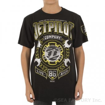 <img class='new_mark_img1' src='https://img.shop-pro.jp/img/new/icons24.gif' style='border:none;display:inline;margin:0px;padding:0px;width:auto;' />JETPILOT LIVE RICH YOUTH TEE(ブラック)