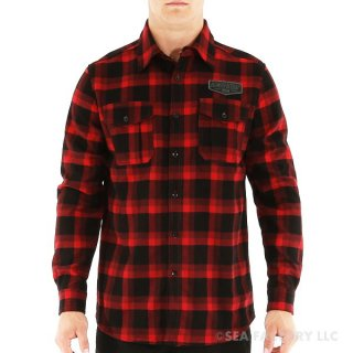 <img class='new_mark_img1' src='https://img.shop-pro.jp/img/new/icons24.gif' style='border:none;display:inline;margin:0px;padding:0px;width:auto;' />JETPILOT FABRICATED W15 FLANNEL(ブラック/レッド・Mサイズ)
