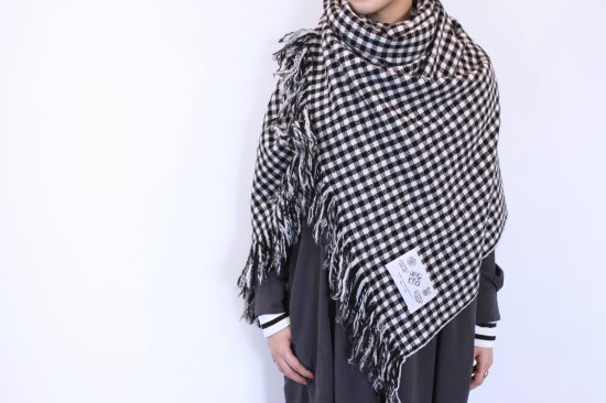 R&D.M.Co- オールドマンズテーラー  BLANKET GINGHAM CHECK  -Black-