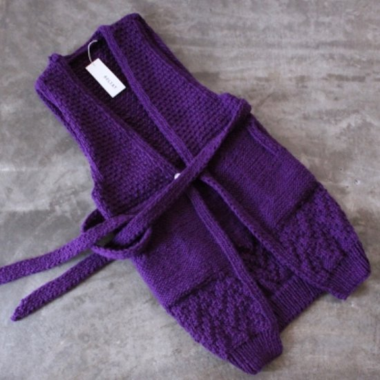 <img class='new_mark_img1' src='https://img.shop-pro.jp/img/new/icons36.gif' style='border:none;display:inline;margin:0px;padding:0px;width:auto;' />ROLIAT HANDKNIT long vest