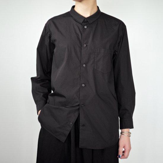 ゴーシュ 100/1ブロード 襟付きシャツ [ブラック]