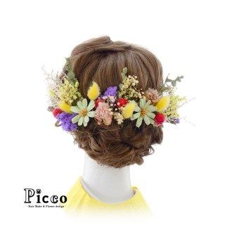 ドライフラワーの髪飾りセット(カラフル)
