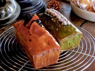 自家製漬け込みフルーツのパウンンドケーキ & 京都宇治抹茶のパウンドケーキ 詰め合わせ
