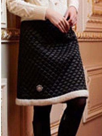 スーパービューティ(super beauty) / キルティング&ビジュー飾りスカート