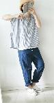 【sale!!】  ボタンデザインのワイドストレートパンツ
