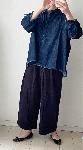 【sale!!】  柔らかデニムのゆったりシャツ