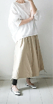 【sale!!】  リーフ刺繍のドルマンプルオーバー