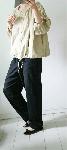 【sale!!】  綿混のフレンチリネンブラウス