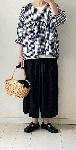 【新色追加】麻レーヨンのワイドパンツ