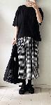黒ギンガムチェックのスカート・handmade