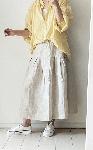 【sale!!】  リネンのプリーツスカート