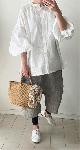 【sale!!】  ほんわり袖の2wayビックシャツ