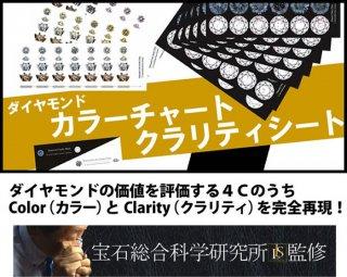ダイヤモンドカラーチャート&クラリティシート