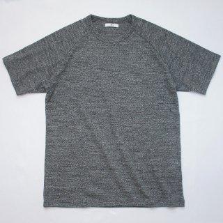 Bフライス丈長ラグランTシャツ【国産・日本製】無地/綿100%/厚手/霜降グレー/メンズ