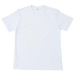 40/2度詰天竺 普通袖Tシャツ-白