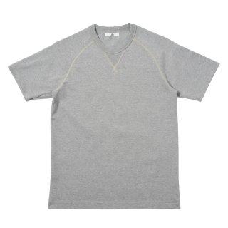 30/2度詰天竺 ガゼットラグランTシャツ-杢グレー【東京製】*ヴィンテージ仕様