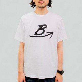 BロゴTシャツ-白 【日本製】