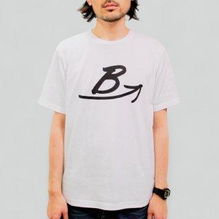 BロゴTシャツ-白【日本製 40/2天竺】