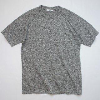 BメランジグレーラグランTシャツ【国産・日本製】無地/綿100%/厚手/霜降グレー/メンズ