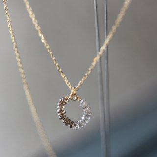 ディスク ダイヤモンド サークルネックレス