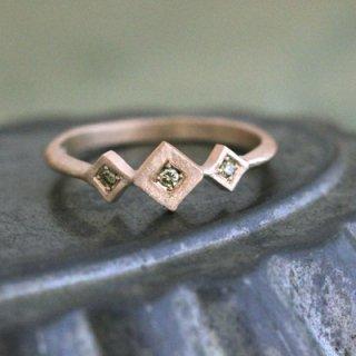 グリーンダイヤモンド リング�