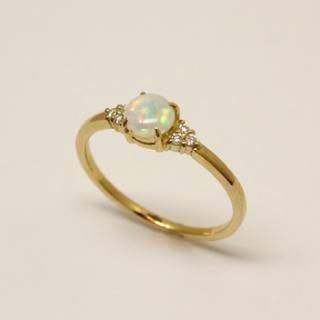 オパール+ダイアモンド リング