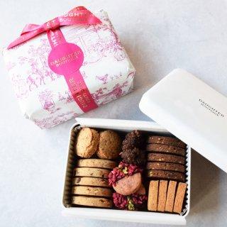 【バレンタイン・ホワイトデーシーズン限定】クッキー缶 ロゴ入り手提げ紙袋付き の商品画像