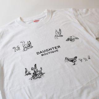 Tシャツ 大人 Lサイズ ホワイト DAUGHTER BOUTIQUEオリジナルの商品画像