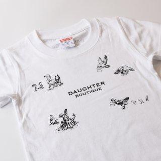 Tシャツ キッズ 100サイズ ホワイト DAUGHTER BOUTIQUEオリジナルの商品画像