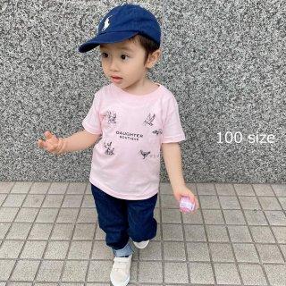 Tシャツ キッズ 100サイズ ピンク DAUGHTER BOUTIQUEオリジナルの商品画像