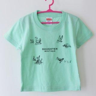 Tシャツ キッズ 120サイズ グリーン DAUGHTER BOUTIQUEオリジナルの商品画像