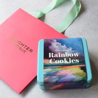 レインボークッキー缶 ロゴ入り手提げ紙袋付き の商品画像