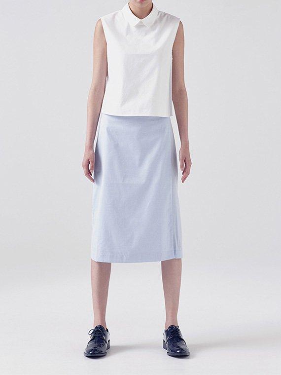 Linear wrap shirt -sleeveless