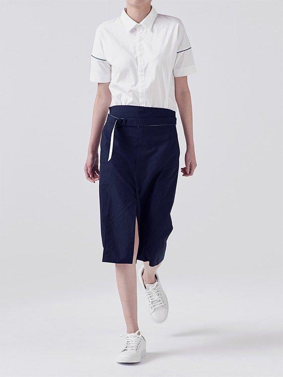 2 color belt skirt