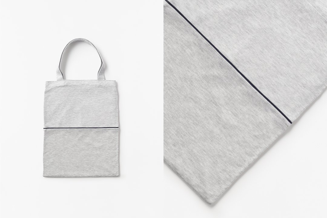 A3 bi-color tote bag -gray×gray