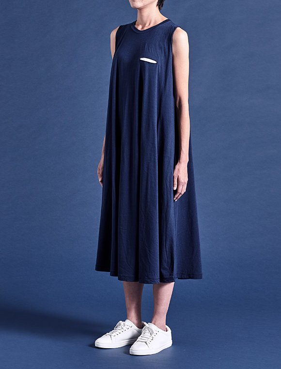 long conic modal cotton dress