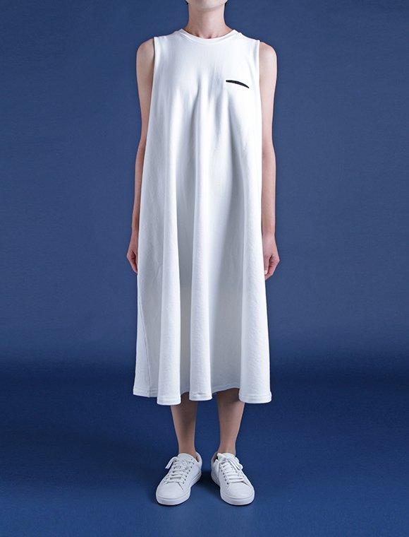 long conic jersey dress