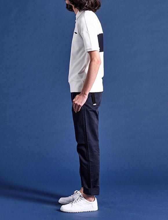 line / panel jersey polo-shirt