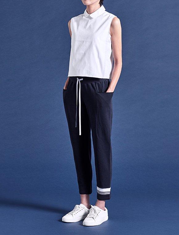 straight pocket panel jersey pants