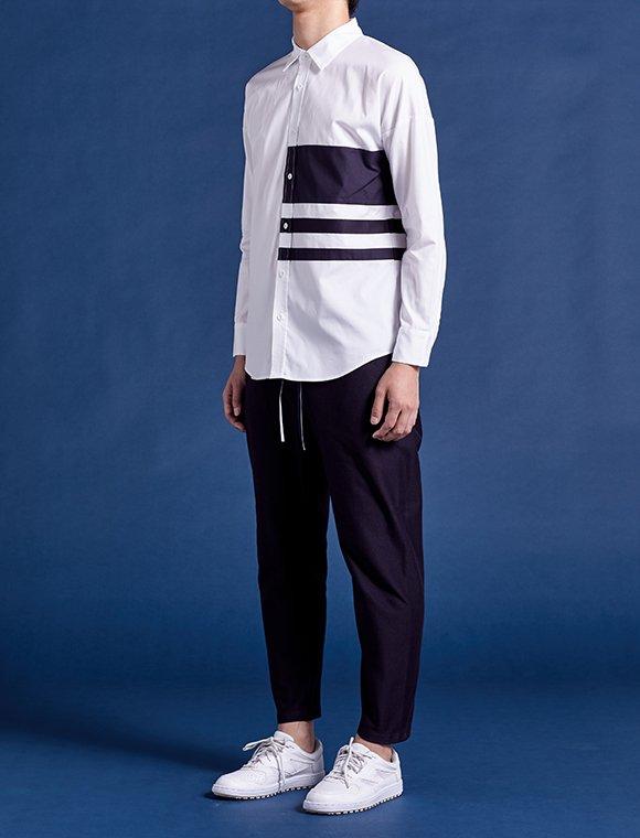navy line shirt (1/2)