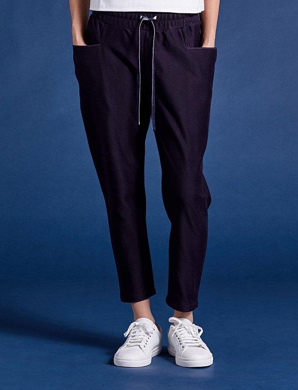 straight pocket twill cotton pants