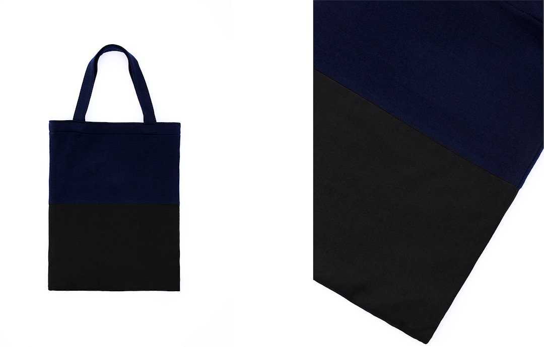 ray-smooth tote bag navy-black