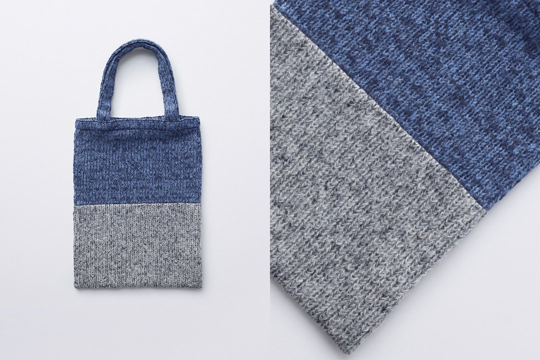 A3 tote bag -navy×gray