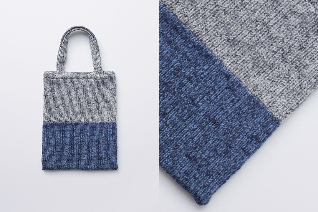A3 tote bag -gray×navy