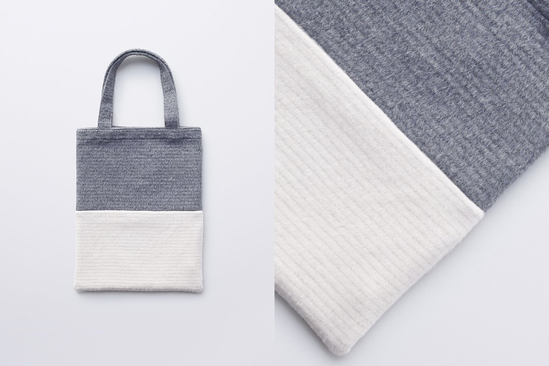 A3 tote bag -gray×white