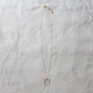 cikolata/アクリルダイアモンド一粒ネックレス(クリア)