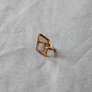 cikolata/アクリルダイアモンドリング(セピア)