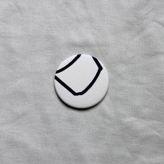 はしもとなおこ/glassdot white ハンドミラー